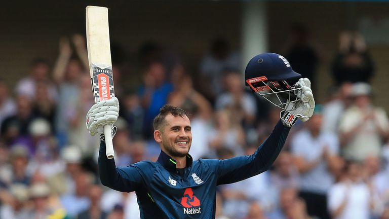 Centurion Alex Hales salutes the Trent Bridge crowd