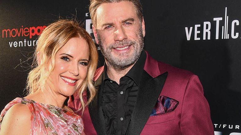 John Travolta and his wife Kelly Preston at the New York premiere of Gotto last week