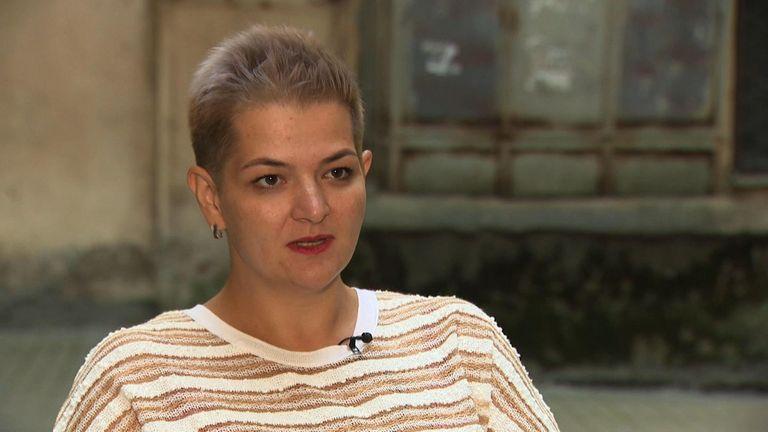 Aleksandra Krylenkova from the civil rights group Memorial