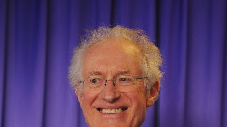 Television presenter and author Bamber Gascoigne receives a CBE