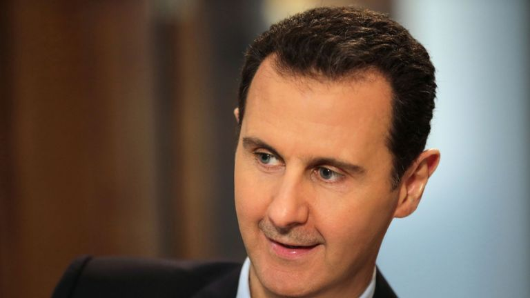 Mr Assad says chemical attack was staged