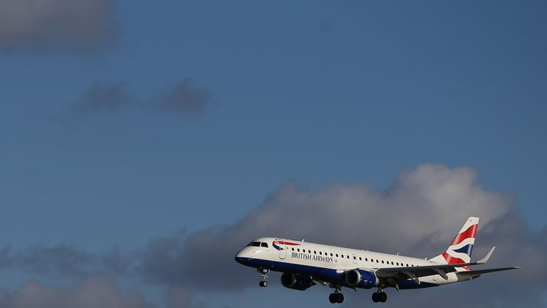 "British Airways said his behaviour was ""completely unacceptable"". File pic"