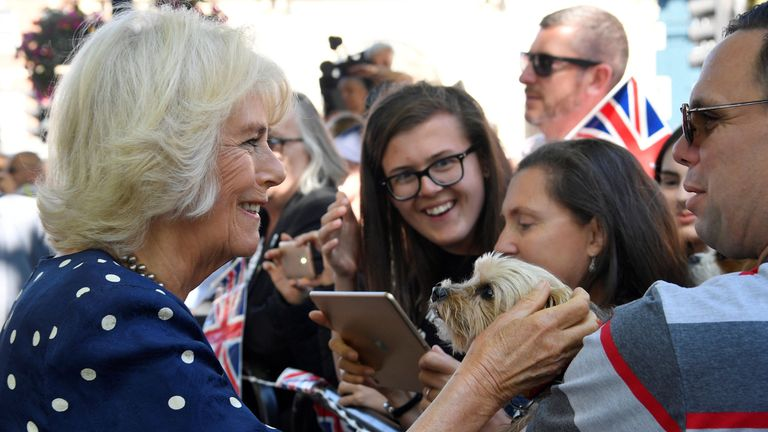 The Duchess of Cornwall meeting well-wishers