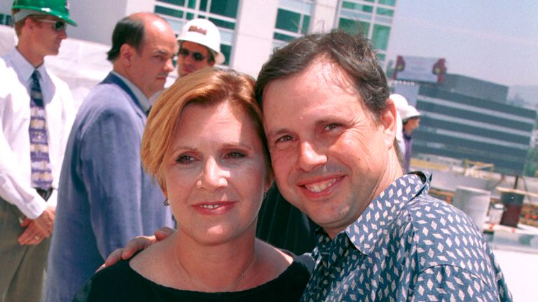 Carrie and Todd Fisher