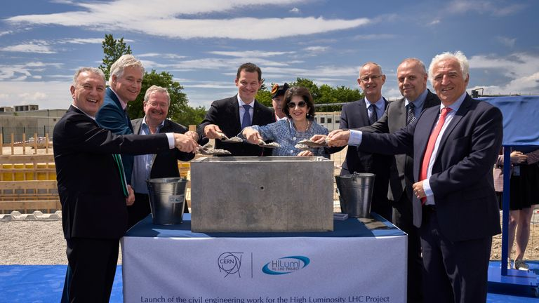 The upgrade was launched in a bid to gain a greater insight into atoms. Pic: CERN