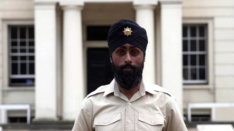 """Coldstream Guards soldier Charanpreet Singh Lall who will wear a turban as he parades during Trooping the Colour has said he hopes it is looked upon as a """"new change in history"""""""