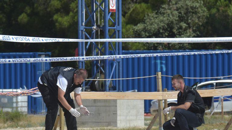 Police at the scene. Pic: Dino Stanin/PIXSELL/WENN