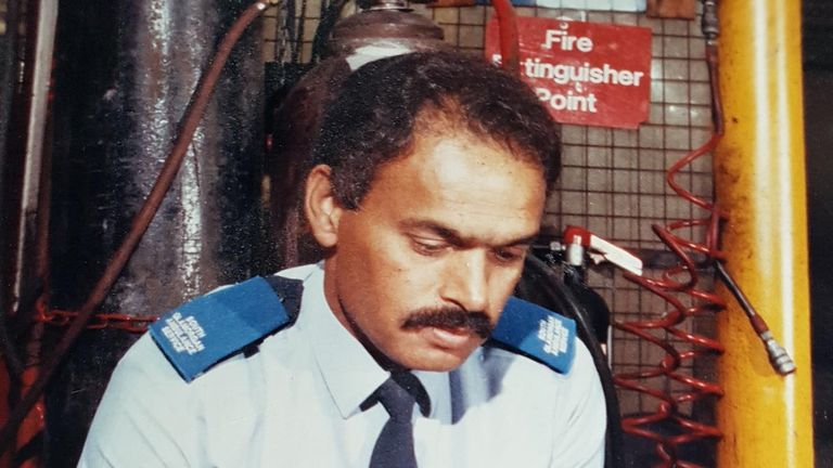 Dennis Moss in his uniform during his time in the paramedics