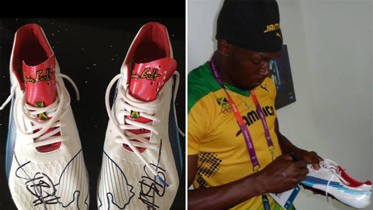 Uk Man Burglary Bolt Usain Shoes Stolen Signed After In Arrested wqwrZpz7