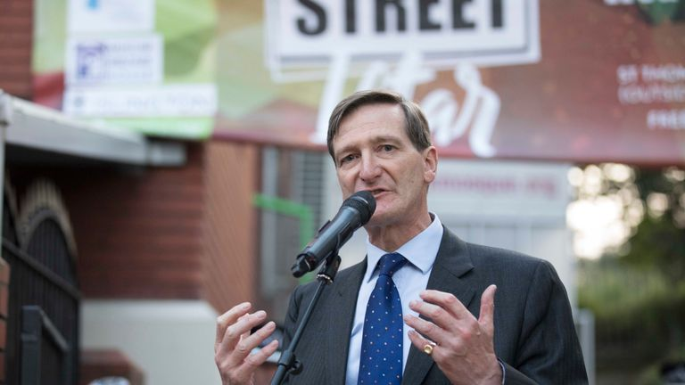 Former Attorney General Dominic Grieve makes a speech to celebrate community spirit one year after the Finsbury Park terrorist attack.