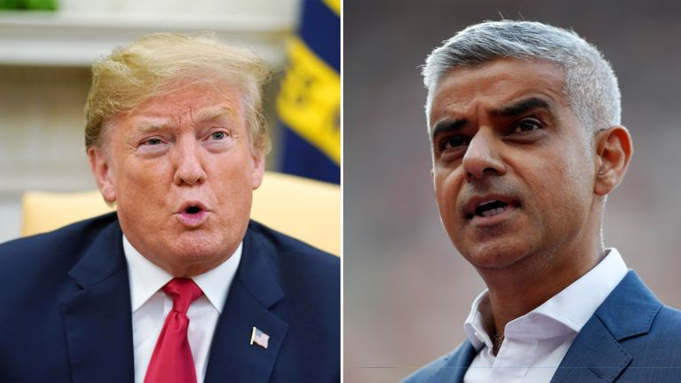 Donald Trump has repeatedly clashed with Sadiq Khan
