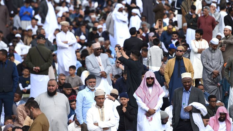 Thousands of people attend Birmingham's Eid celebration of the end of Ramadan, at Small Heath Park, Birmingham