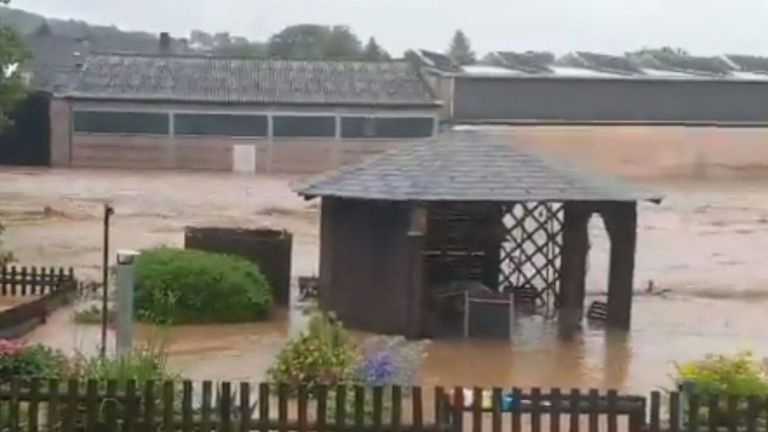 Eifel Zoo has been badly damaged by flash flooding
