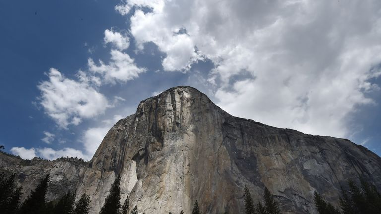 The El Capitan monolith is popular with climbers