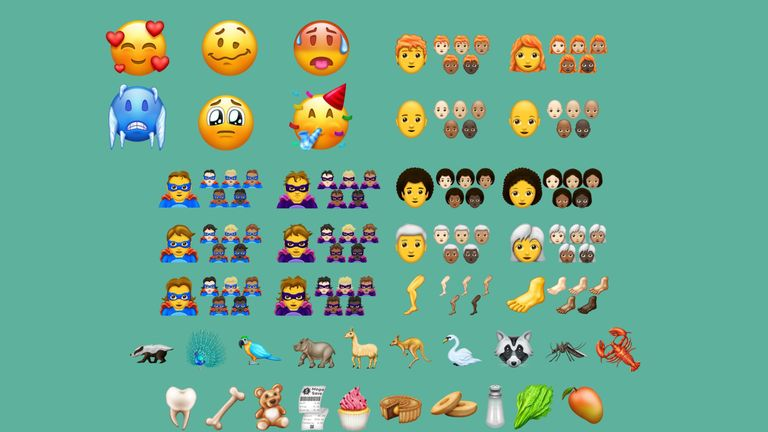 Emojipedia has created this graphic of the new icons