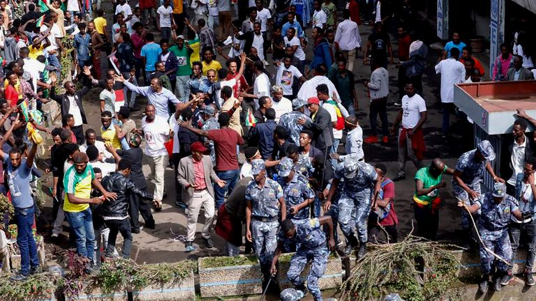 Ethiopian security forces intervene after blast