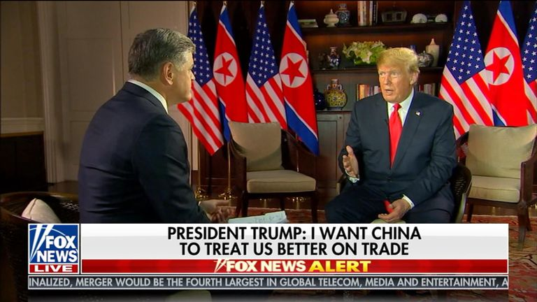 Donald Trump on Fox News' Hannity
