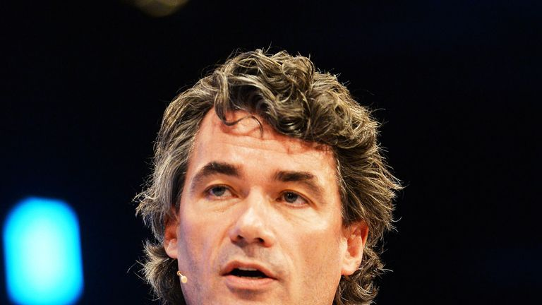 BT Chief Executive, Gavin Patterson, addresses the CBI annual conference in London