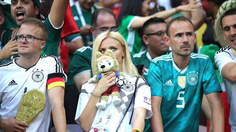 German fans cannot hide their disappointment
