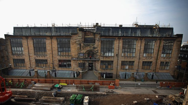 The Glasgow School of Art Mackintosh building pictured in 2012