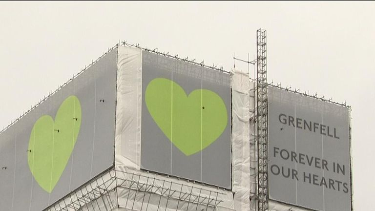 Victims of the Grenfell Tower fire are remembered with 72 seconds of silence