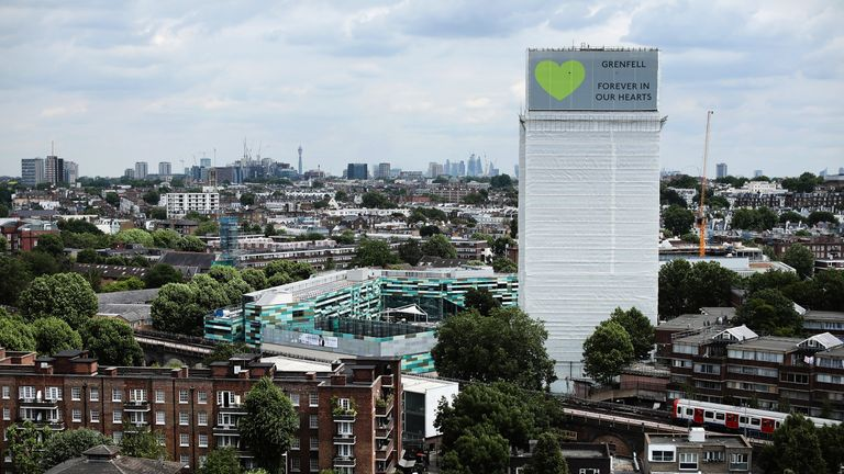 Hoardings in support of the victims of the Grenfell fire