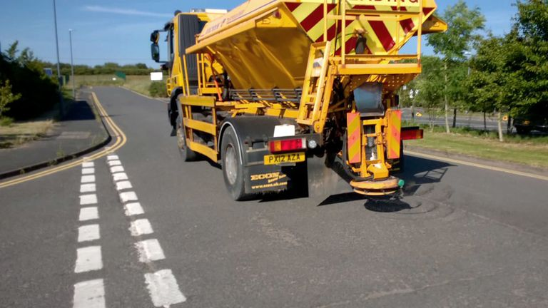 Gritters out in Cumbria to fill in melting roads