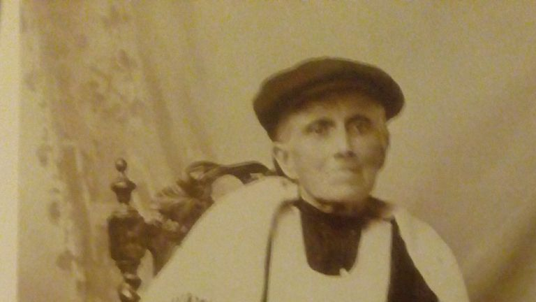 Hannah Rees, Aneira's great-grandmother and a local midwife, pictured in the late-1800s/early-1900s