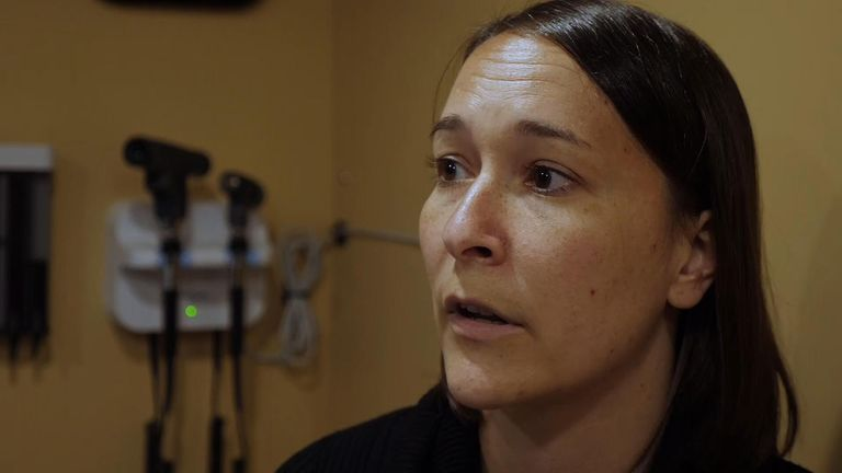 Kami Harless treats patients who have jobs but can't have health care