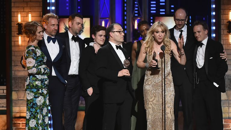 Tony Awards: Colin Callender, Sonia Friedman and the cast and crew of Harry Potter and the Cursed Child accept award for best play