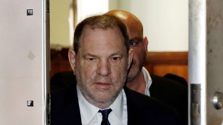 Harvey Weinstein at court in Manhattan