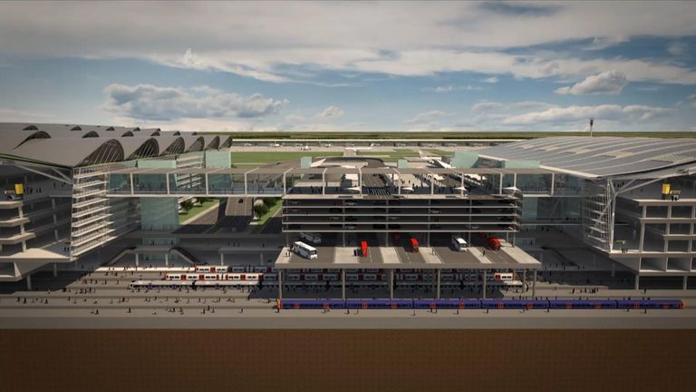 Heathrow Airport as it could look after expansion
