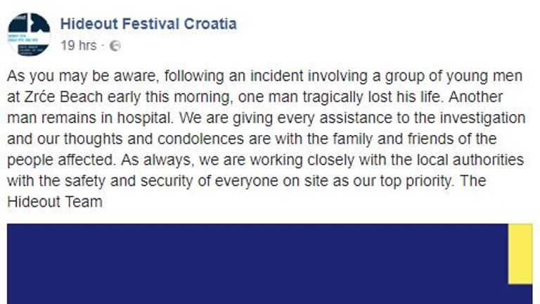 A man has been arrested following the murder on Zrce Beach