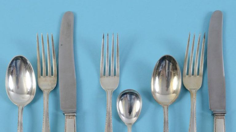 Hitler's cutlery has been sold for £12,500 at auction. Pic: Charterhouse Auctioneers