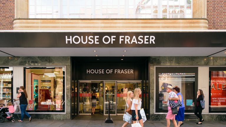 baf408f72949d House of Fraser. Image  The stores will shut up shop in less than a year