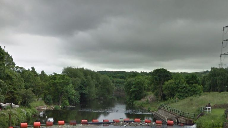 Police said they found two bodies in the River Calder