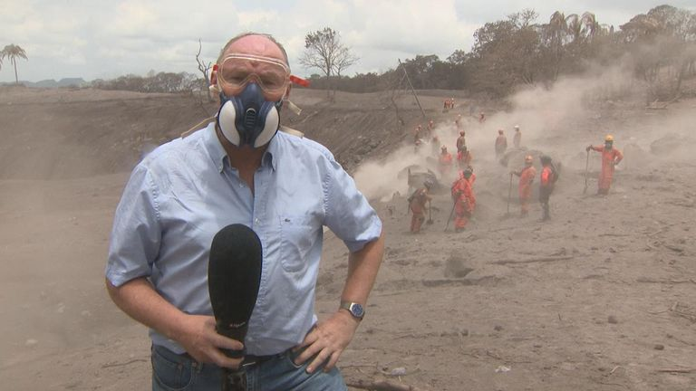 Sky's Ian Woods, who is on the ground in Guatemala