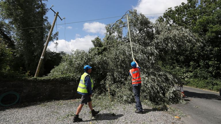 Tens of thousands of people were left without power