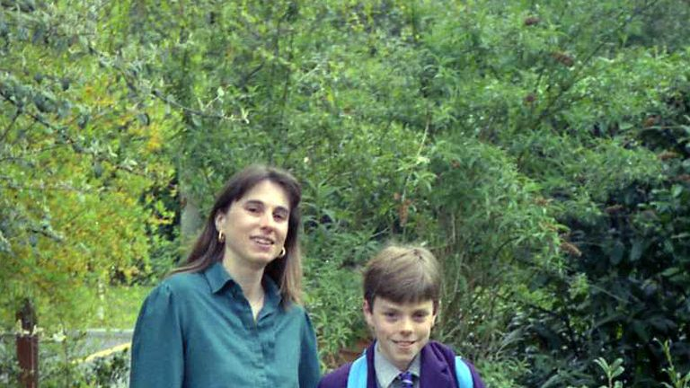 Janie Hamilton with her son James, who became addicted to cannabis. Pic: Family handout
