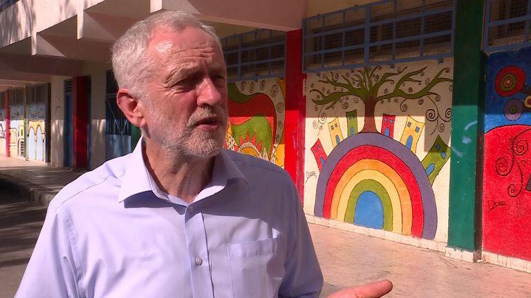 Jeremy Corbyn on a trip to Jordan in June 2018