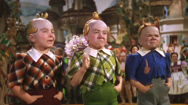 Jakob Gerlich, Jerry Maren and Harry Doll in The Wizard Of Oz - 1939