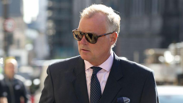 Former TV presenter John Leslie arrives at Edinburgh Sheriff Court