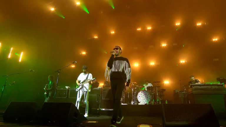 Kasabian opened the festival in a triumphant return to the island