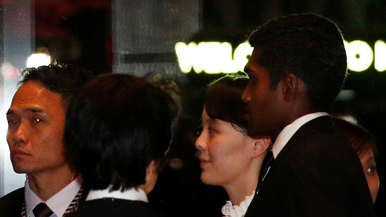 Kim Yo Jong also enjoyed a walkabout in Singapore