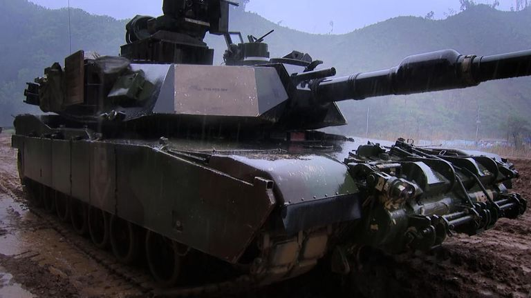 US troops doing tank drills in South Korea