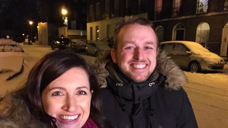 Laurel Irving and Jimmy Cannon pictured in London in February. Pic: @laurelirving7