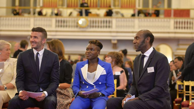 David Beckham, Nicola Adams and Sir Lenny Henry