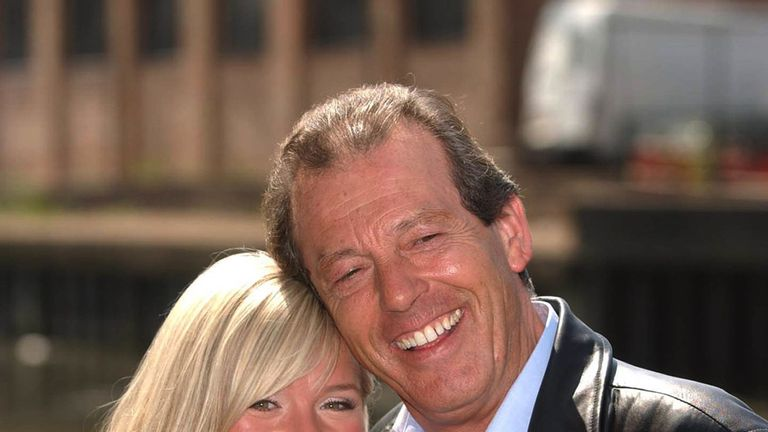Grantham pictured with on-screen adopted daughter Sharon, played by Letitia Dean