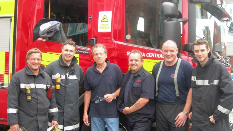 Grantham with the Mid and West Wales Fire and Rescue team
