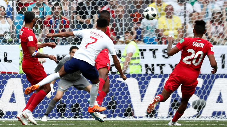 England go three up as Lingard powers home a strike in the top corner of Panama's goal